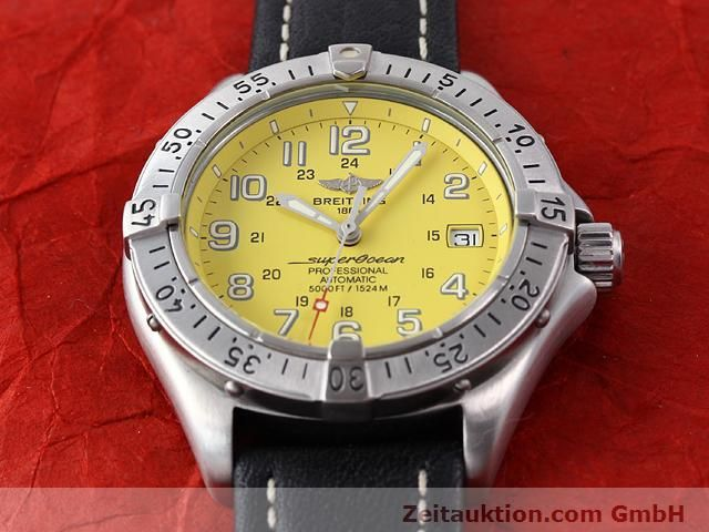 Used luxury watch Breitling Superocean steel automatic Kal. ETA 2824-2 Ref. A17045  | 140430 14