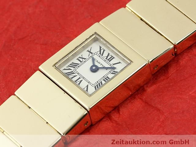 Used luxury watch Cartier * 18 ct gold quartz Kal. 201 VINTAGE  | 140432 01