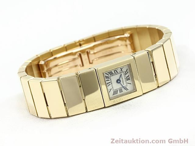 Used luxury watch Cartier * 18 ct gold quartz Kal. 201 VINTAGE  | 140432 03