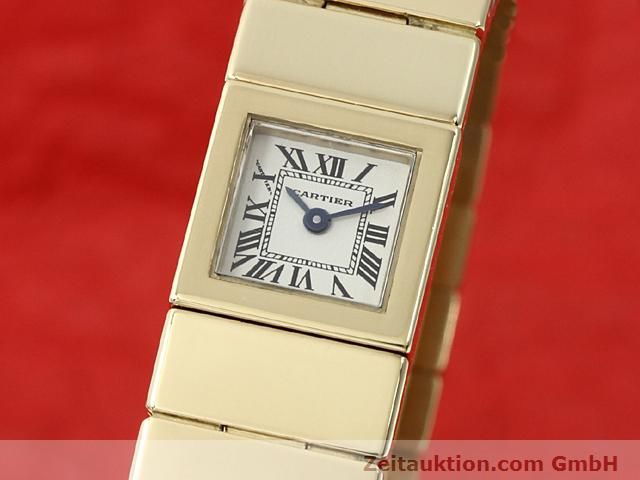 Used luxury watch Cartier * 18 ct gold quartz Kal. 201 VINTAGE  | 140432 04