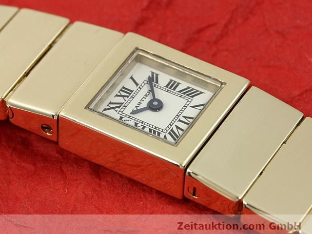 Used luxury watch Cartier * 18 ct gold quartz Kal. 201 VINTAGE  | 140432 12