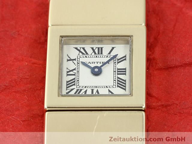 Used luxury watch Cartier * 18 ct gold quartz Kal. 201 VINTAGE  | 140432 13