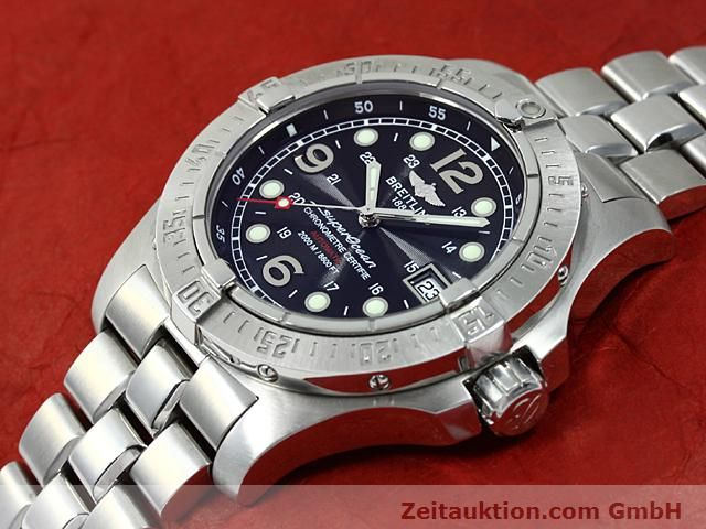 Used luxury watch Breitling Superocean steel automatic Kal. ETA 2824-2 Ref. A17390  | 140435 01