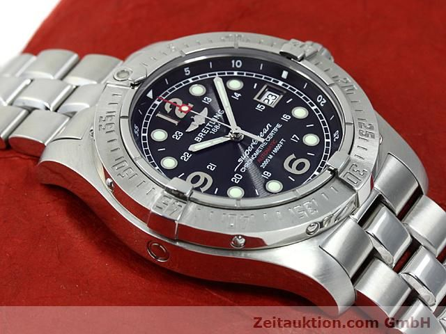 Used luxury watch Breitling Superocean steel automatic Kal. ETA 2824-2 Ref. A17390  | 140435 14