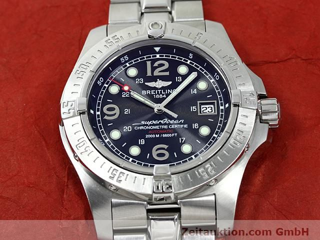 Used luxury watch Breitling Superocean steel automatic Kal. ETA 2824-2 Ref. A17390  | 140435 15