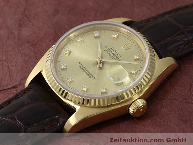 Used luxury watch Rolex Datejust 18 ct gold automatic Kal. 3035 Ref. 16248  | 140437 01