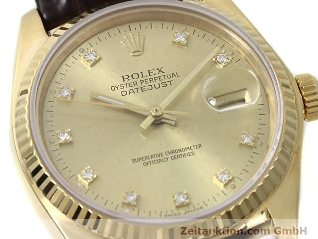 Used luxury watch Rolex Datejust 18 ct gold automatic Kal. 3035 Ref. 16248  | 140437 02