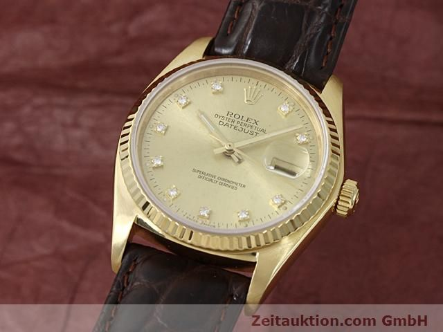Used luxury watch Rolex Datejust 18 ct gold automatic Kal. 3035 Ref. 16248  | 140437 04