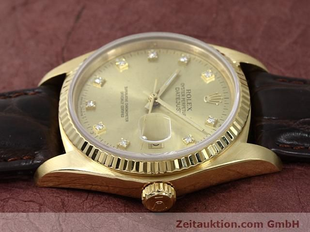 Used luxury watch Rolex Datejust 18 ct gold automatic Kal. 3035 Ref. 16248  | 140437 05