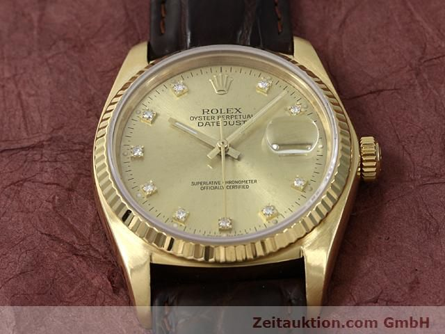Used luxury watch Rolex Datejust 18 ct gold automatic Kal. 3035 Ref. 16248  | 140437 13