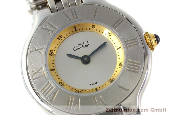 Used luxury watch Cartier Ligne 21 gilt steel quartz  | 140439 02