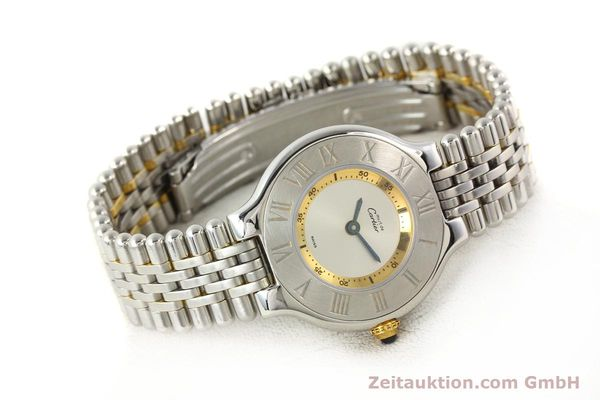 Used luxury watch Cartier Ligne 21 gilt steel quartz  | 140439 03