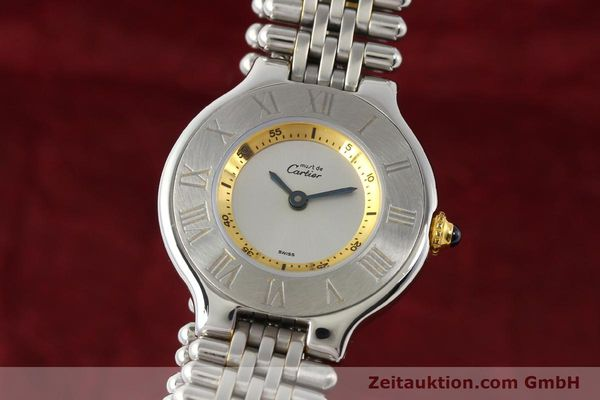 Used luxury watch Cartier Ligne 21 gilt steel quartz  | 140439 04