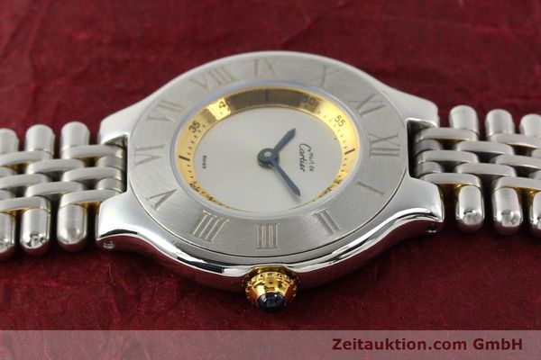 Used luxury watch Cartier Ligne 21 gilt steel quartz  | 140439 05