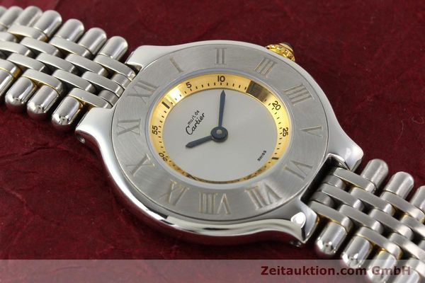 Used luxury watch Cartier Ligne 21 gilt steel quartz  | 140439 12