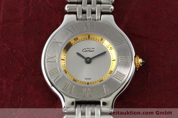 Used luxury watch Cartier Ligne 21 gilt steel quartz  | 140439 13
