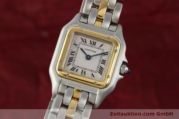 Used luxury watch Cartier Panthere steel / gold quartz  | 140440 04