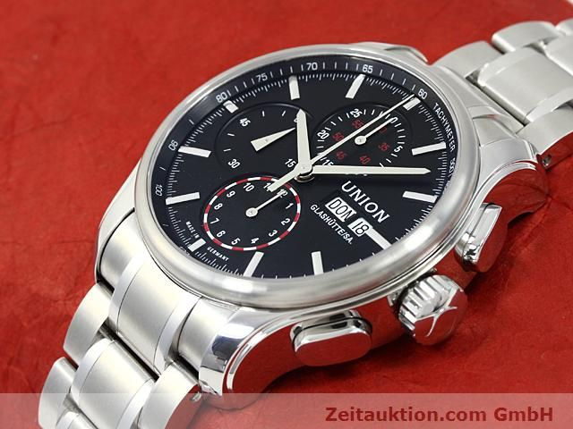Used luxury watch Union Glashütte Viro steel automatic Kal. U7750 ETA 7750 Ref. D001.414A  | 140452 01