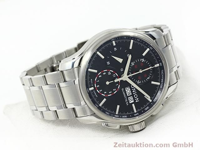 Used luxury watch Union Glashütte Viro steel automatic Kal. U7750 ETA 7750 Ref. D001.414A  | 140452 03