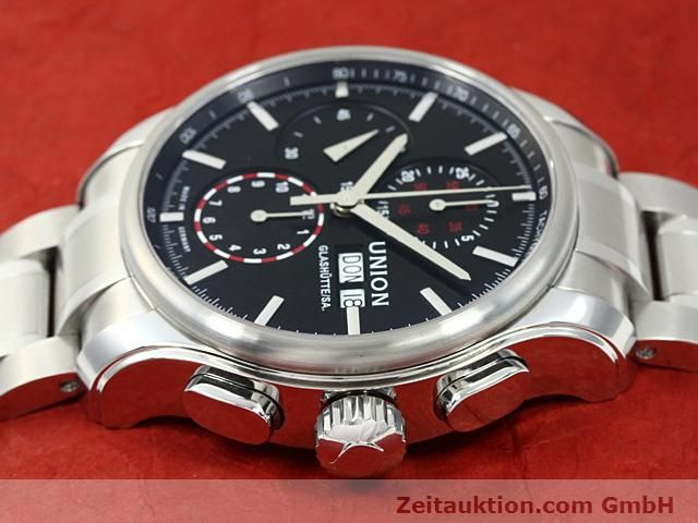 Used luxury watch Union Glashütte Viro steel automatic Kal. U7750 ETA 7750 Ref. D001.414A  | 140452 05