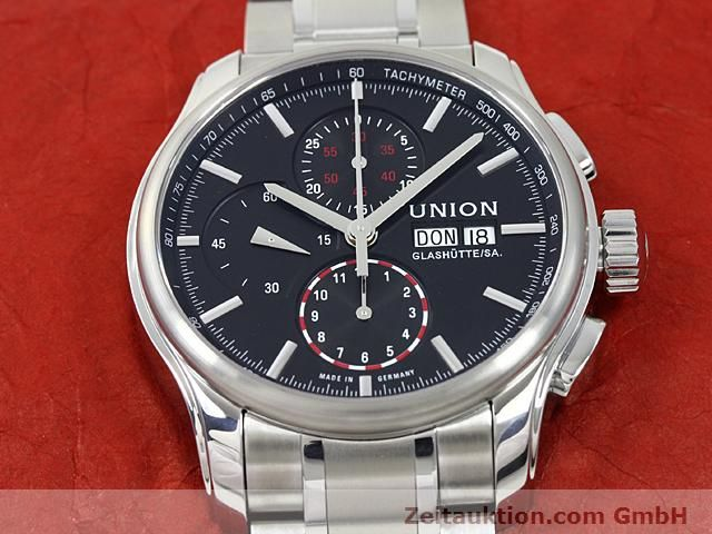 Used luxury watch Union Glashütte Viro steel automatic Kal. U7750 ETA 7750 Ref. D001.414A  | 140452 15