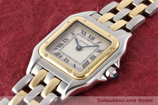 Used luxury watch Cartier Panthere steel / gold quartz  | 140454 01