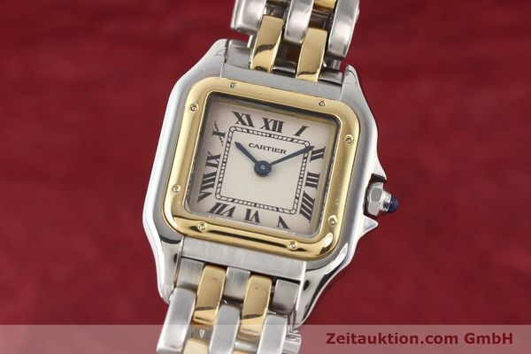 Used luxury watch Cartier Panthere steel / gold quartz  | 140454 04