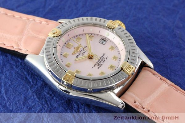 Used luxury watch Breitling Windrider gilt steel quartz Ref. B72345  | 140467 12