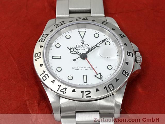 Used luxury watch Rolex Explorer steel automatic Kal. 3185 Ref. 16570  | 140477 14