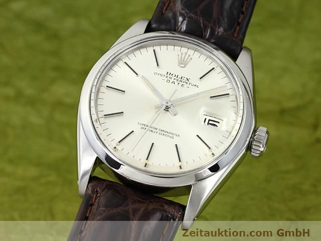 Used luxury watch Rolex Date steel automatic Kal. 1570 Ref. 1500  | 140480 04