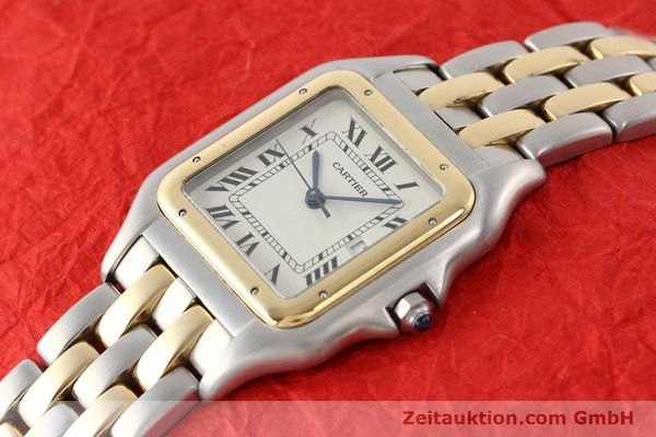 montre de luxe d occasion Cartier Panthere acier / or  quartz  | 140493 01