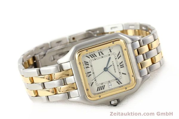 montre de luxe d occasion Cartier Panthere acier / or  quartz  | 140493 03