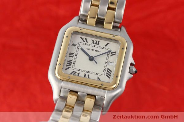 montre de luxe d occasion Cartier Panthere acier / or  quartz  | 140493 04