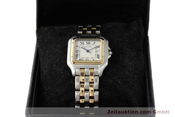 montre de luxe d occasion Cartier Panthere acier / or  quartz  | 140493 07