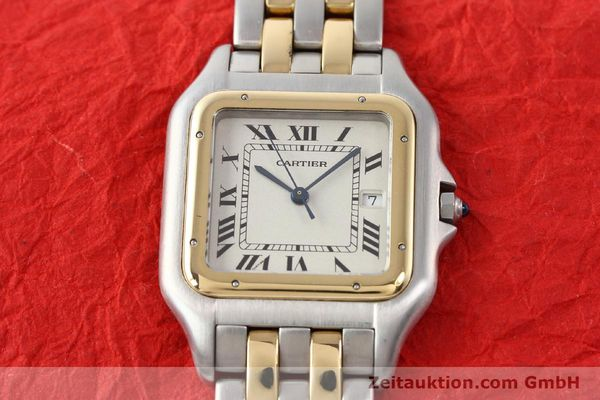 montre de luxe d occasion Cartier Panthere acier / or  quartz  | 140493 14
