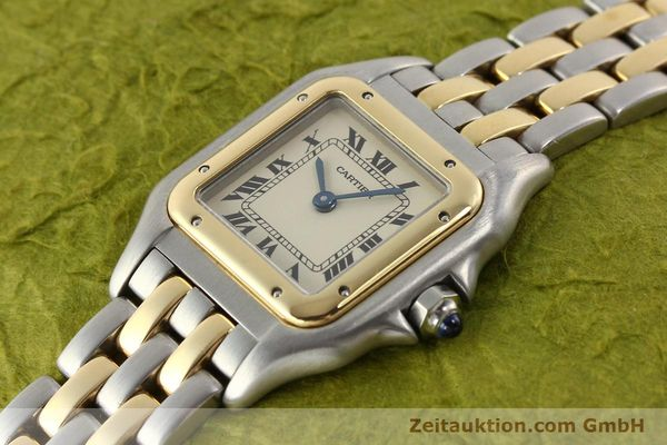 montre de luxe d occasion Cartier Panthere acier / or  quartz  | 140494 01