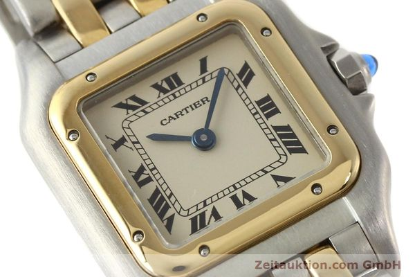 montre de luxe d occasion Cartier Panthere acier / or  quartz  | 140494 02