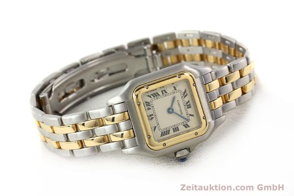 montre de luxe d occasion Cartier Panthere acier / or  quartz  | 140494 03