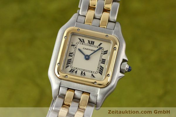 montre de luxe d occasion Cartier Panthere acier / or  quartz  | 140494 04