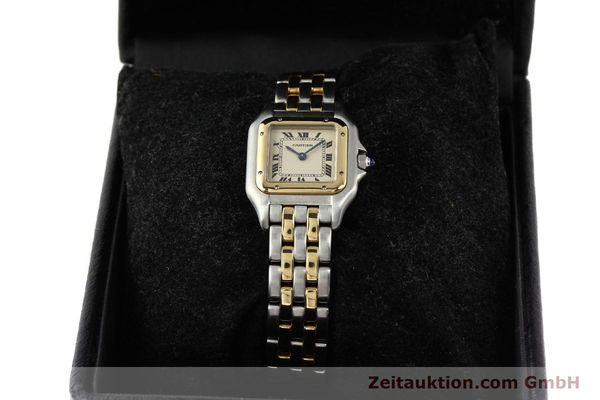 montre de luxe d occasion Cartier Panthere acier / or  quartz  | 140494 06