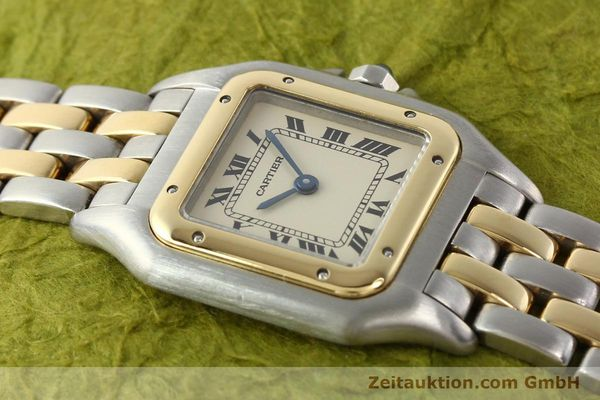 montre de luxe d occasion Cartier Panthere acier / or  quartz  | 140494 11
