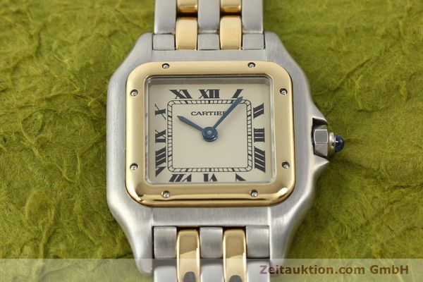 montre de luxe d occasion Cartier Panthere acier / or  quartz  | 140494 12