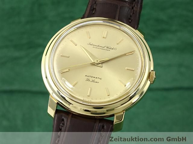 Used luxury watch IWC De Luxe 18 ct gold automatic Kal. C.853  | 140497 04