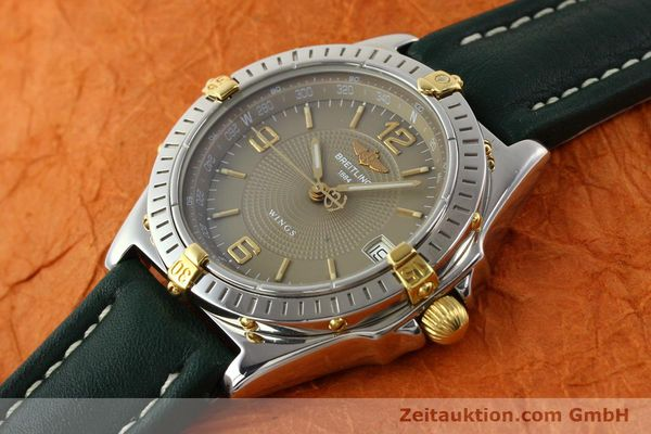 Used luxury watch Breitling Wings gilt steel automatic Kal. ETA 2892-2 Ref. B10050  | 140505 01