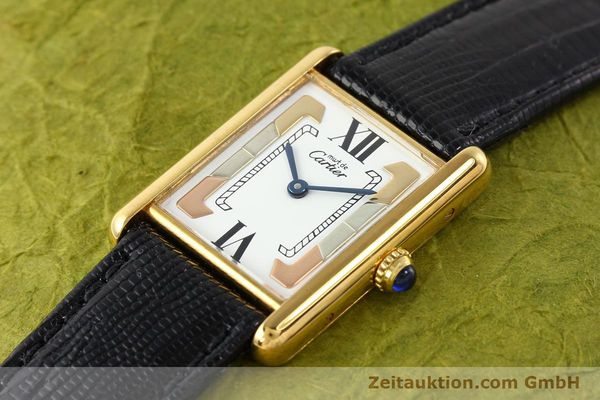 Used luxury watch Cartier Tank silver-gilt quartz  | 140525 01
