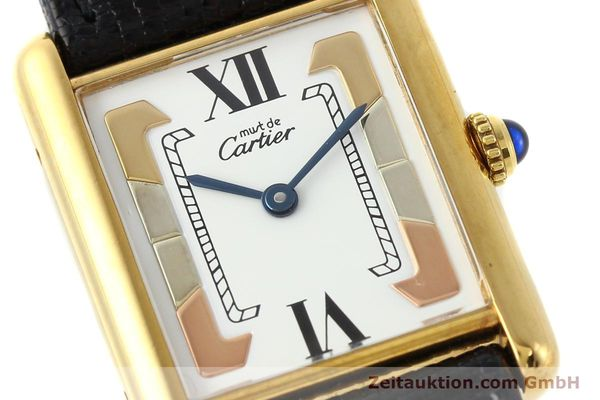Used luxury watch Cartier Tank silver-gilt quartz  | 140525 02