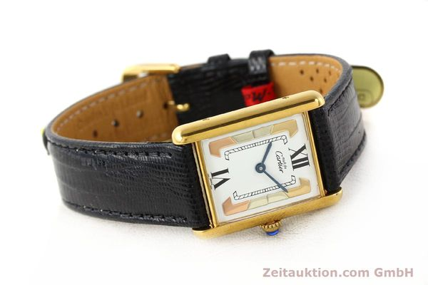 Used luxury watch Cartier Tank silver-gilt quartz  | 140525 03