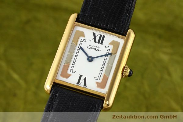 Used luxury watch Cartier Tank silver-gilt quartz  | 140525 04