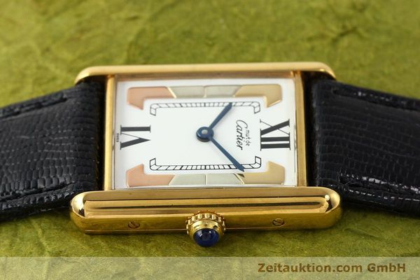 Used luxury watch Cartier Tank silver-gilt quartz  | 140525 05