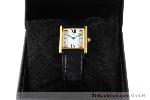 Used luxury watch Cartier Tank silver-gilt quartz  | 140525 07